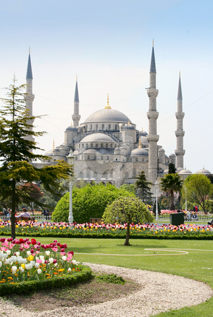 The Blue Mosque stock photo, The Blue Mosque in Istanbul, Turkey by Luba Kinyaeva