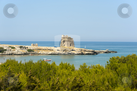The coast of Gargano (Puglia, Italy) at summer stock photo, The coast of Gargano (Puglia, Italy) at summer by clodio