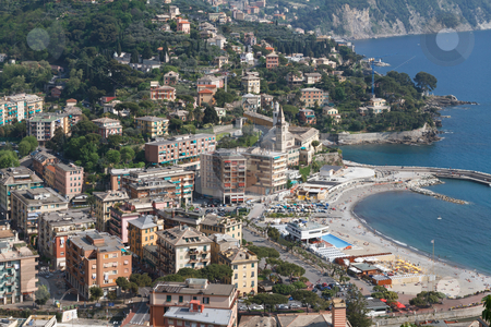 Recco, Italy stock photo, aerial view of Recco, small town in Liguria, Italy by ANTONIO SCARPI