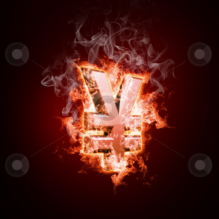 Money in  open arms fire stock photo, Money in  open arms fire on a black background by Sergey Nivens