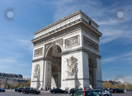 Arc de Triomphe stock photo, Arc de Triomphe, square Champs Elysees, Paris, France by tristanbm
