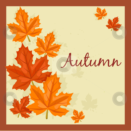 Autumn background stock photo, Autumn background, vector illustration by kariiika
