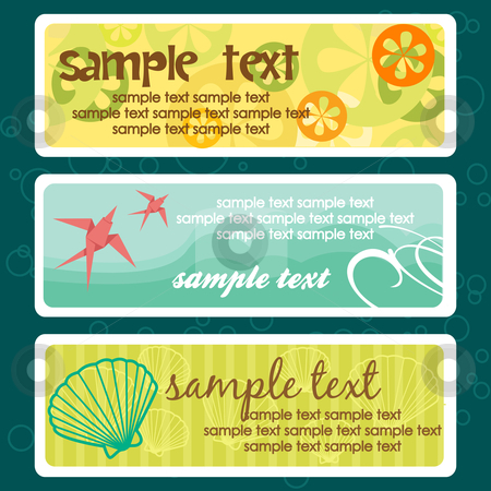 Summer tags with place for your text stock photo, Summer tags with place for your text, vector illustration by kariiika