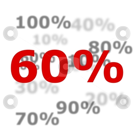 60 percent stock photo, 60 percent discount or sale concept with red number by Gunnar Pippel