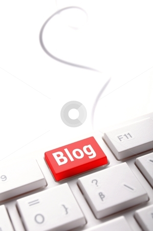 Blog key stock photo, blog key on keyboard showing internet communication concept by Gunnar Pippel