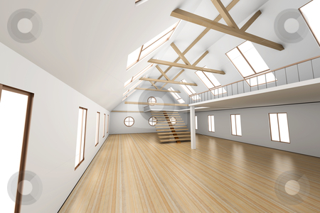 Architecture interior stock photo, Architecture interior visualisation. 3D rendered Illustration. by Michael Osterrieder