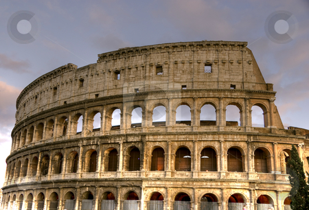 Colosseum HDR stock photo, The Colosseum HDR Rome, Italy by Mohamed Badawi