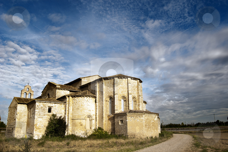 Monastery of Santa Maria de Palazuelos, Valladolid, Spain stock photo, This monastery is currently closed and in ruins by pifate