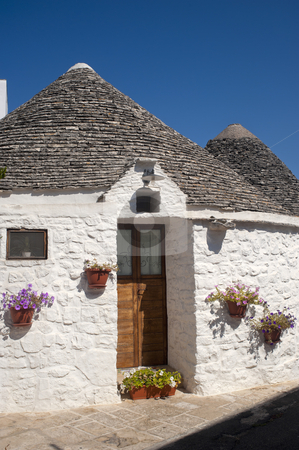 Alberobello (Bari, Puglia, Italy): House in the trulli town stock photo, Alberobello (Bari, Puglia, Italy): House in the trulli town by clodio