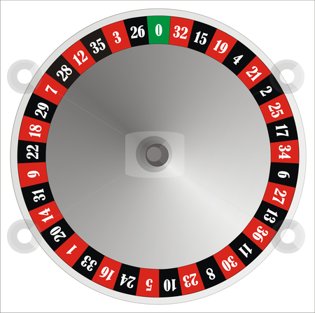 Roulette wheel stock photo, computer generated roulette wheel with numbers and colours by Tudor Antonel adrian