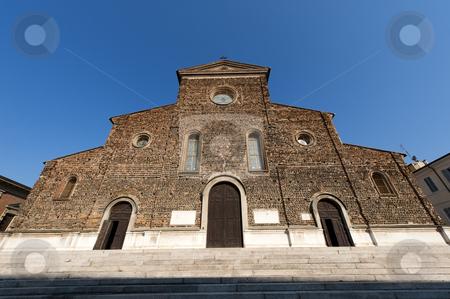 Faenza (Ravenna, Emilia-Romagna, Italy) - Cathedral facade, Rena stock photo, Faenza (Ravenna, Emilia-Romagna, Italy) - Cathedral facade (16th century, Renaissance era) by clodio