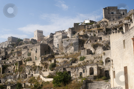 Matera (Basilicata, Italy) - The Old Town (Sassi) stock photo, Matera (Basilicata, Italy) - The Old Town (Sassi), Unesco World Heritage Site by clodio