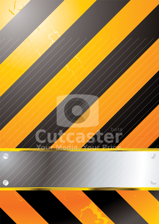 Stripped warning stock vector clipart, Warning background with room to add your own copy by Michael Travers