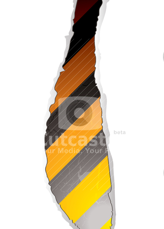 Warning rip stock vector clipart, Illustrated abstract warning background with rip and shadow by Michael Travers