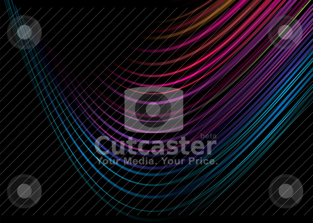 Rainbow crazy swirl stock vector clipart, Bright colorful rainbow background with room to add your own text by Michael Travers