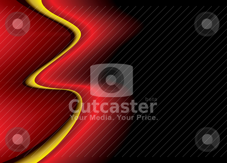 Faded flap shadow stock vector clipart, Brightly coloured abstract background with flowing wavy lines by Michael Travers