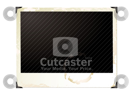 Large grunge polaroid stock vector clipart, Wide screen grunge polaroid with brown grunge effect by Michael Travers