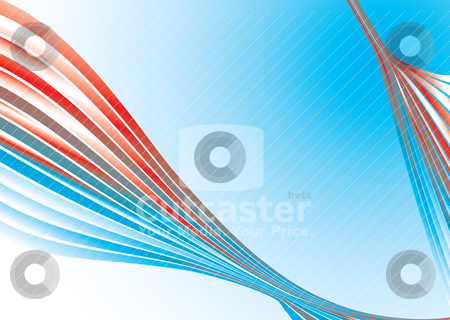 Strand future stock vector clipart, Red and blue futuristic background with room to add copy by Michael Travers