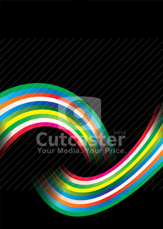 Rainbow over stock vector clipart, Colourful bright rainbow background with copy space by Michael Travers
