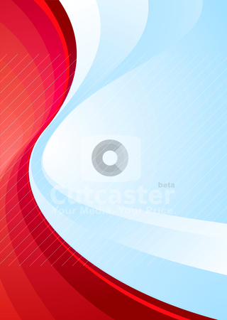 Class divide ready stock vector clipart, Contrasting colours red and blue make this ideal background by Michael Travers