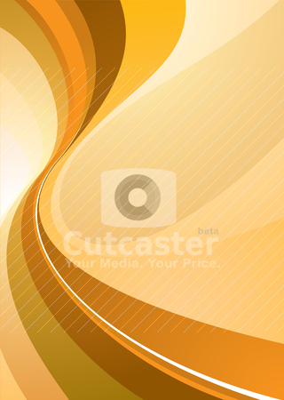 Class divide orange stock vector clipart, Orange background illustration with room to add your own text by Michael Travers