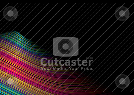 Rainbow surf stock vector clipart, Water inspired brightly colored background with wave effect by Michael Travers