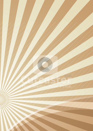 Radiate slice stock vector clipart, Brown radiating background with copy space by Michael Travers