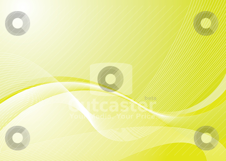 Green galaxy stock vector clipart, Greena nd white abstract background with flowing lines by Michael Travers