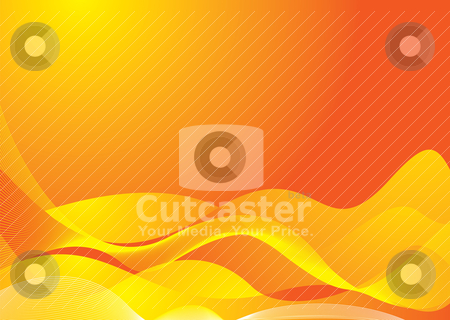 Golden hillock stock vector clipart, Orange and yellow rolling abstract background by Michael Travers
