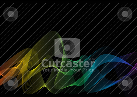 Rainbow weave black stock vector clipart, Rainbow effect on a black background by Michael Travers