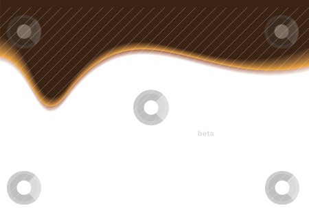 Dribble brown stock vector clipart, Brown and white wave background with copyspace and drop shadow by Michael Travers