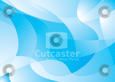 Blue cool flap stock vector clipart, Blue and white abstract background with flowing lines by Michael Travers