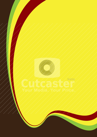 Contrast divide stock vector clipart, Contrasting colours on an abstract background with copyspace by Michael Travers