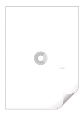 White pad page curl stock vector clipart, Single piece of white paper with a corner curl by Michael Travers