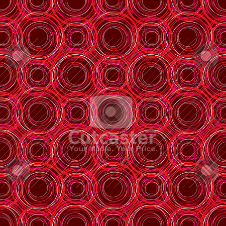 Red round repeat stock vector clipart, Abstract Illustrated Seamless repeating red circular designed background by Michael Travers