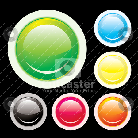 Button lip stock vector clipart, Collection of icon buttons with pale lip with shiny reflections by Michael Travers