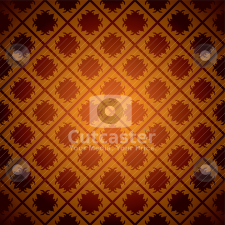 Orange wallpaper grid stock vector clipart, Bright orange seamless background with lines crossing square design by Michael Travers