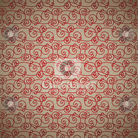 Fawn link stock vector clipart, Interlinking red and fawn abstract background repeating design by Michael Travers