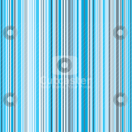 Blue stripe stock vector clipart, Shades of blue patterned background with vertical stripes by Michael Travers