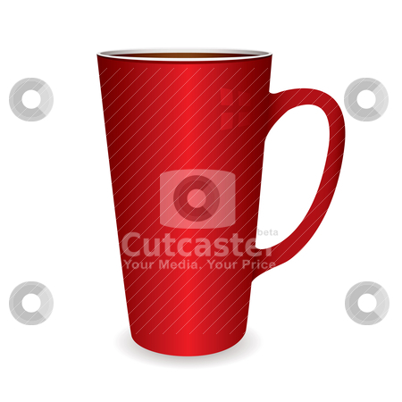 Hot drinks cup stock vector clipart, Illustration of a hot drinks cup that coule be filled with coffee or tea by Michael Travers