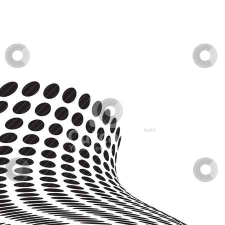 Wave crash stock vector clipart, Black and white abstract wave design with copyspace by Michael Travers