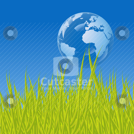 Earth bubble stock vector clipart, Earth bubble, a conceptual illustration for ecology by Laurent Renault