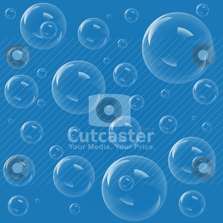 Bubbles stock vector clipart, Blue bubbles background, vector illustration by Laurent Renault