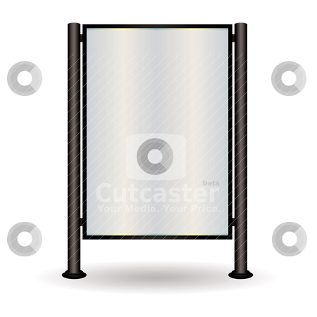Street sign glow stock vector clipart, Street sign with space to add your own advert of text in blank space by Michael Travers