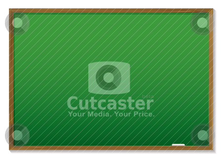 Chalkboard stock vector clipart, Green chalk board with wooden frame and room to add text by Michael Travers