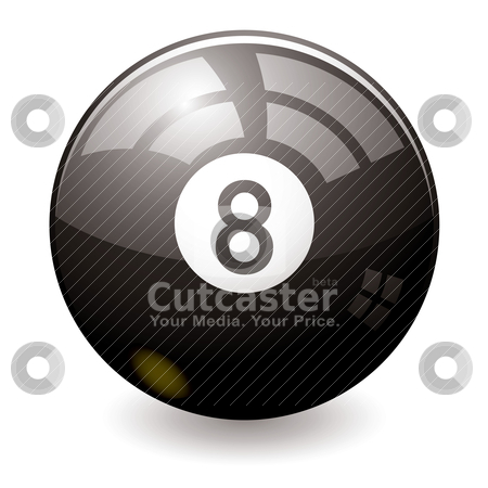 Eight ball stock vector clipart, Can the eight ball tell the future maybe this one can by Michael Travers