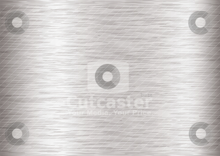 Metal brushed steel stock vector clipart, Silver steel background with metal grain and stroke effect by Michael Travers