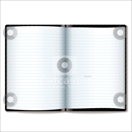 Organizer blank open stock vector clipart, Illustrated open book or diary with room to add your own text by Michael Travers