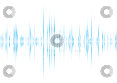 Alpha beet stock vector clipart, Blue and white graphic equalizer background with peak graph by Michael Travers