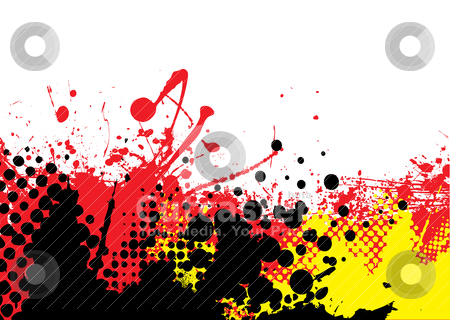 Hot tone stock vector clipart, Red hot abstract background with white copyspace and halftone dots by Michael Travers